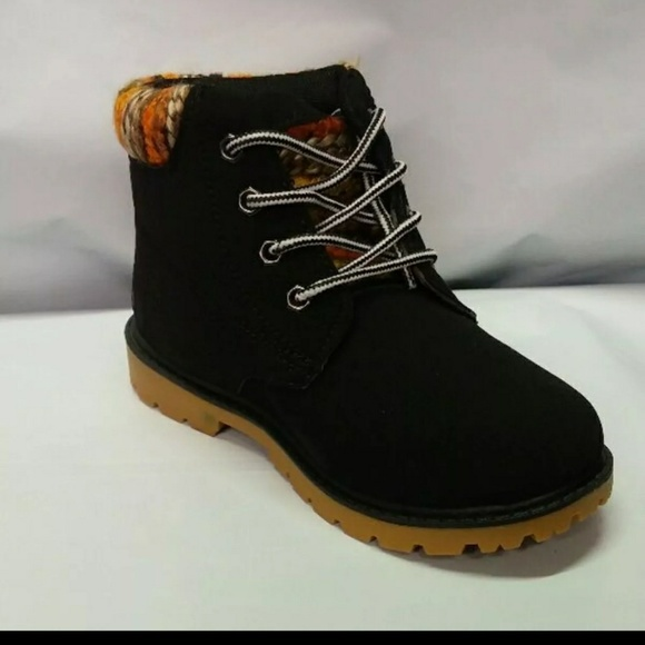 Unbranded Other - 🔴👦👩 NEW  Kids Black Ankle Work Bootie